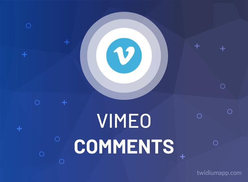 Buy Vimeo Comments (Custom)